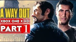a way out new split screen multiplayer gameplay walkthrough part 1 HD, ps4, xbox one, pc