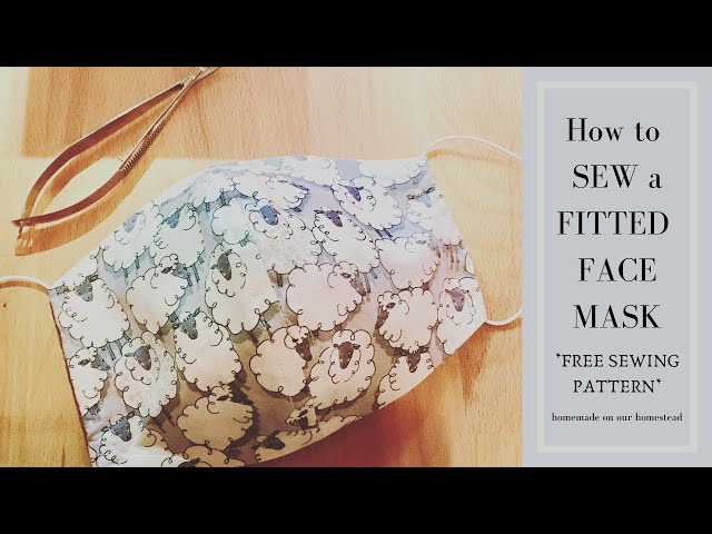 How to SEW a FITTED fabric FACE MASK // Beginner Step-By- Step Instructions for a DIY fabric mask