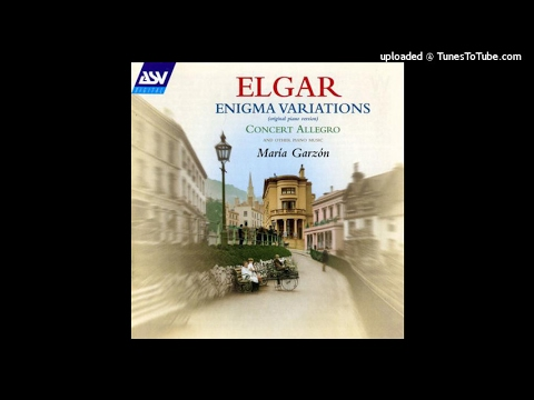 Edward Elgar : Variations on an Original Theme 'Enigma' for piano Op. 36 (1899)