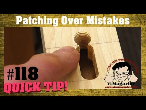 DOH! I made a woodworking mistake! How do I fix it?