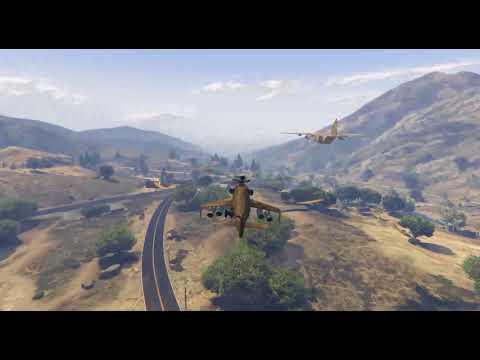 GTAV-阿龍開泰坦老母雞回軍事基地被默默偷拍下來!