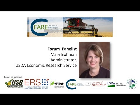 Mary Bohman — Administrator, USDA Economic Research Service