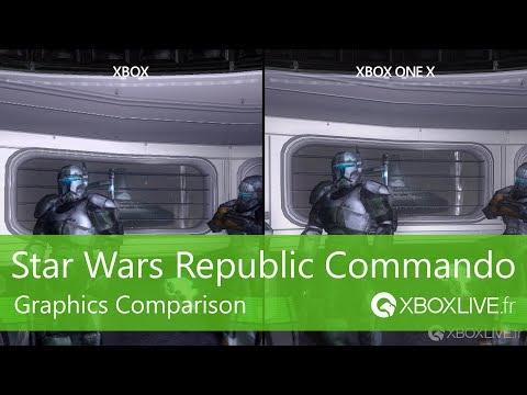 Сравнение Star Wars: Republic Commando на первом Xbox и Xbox One X