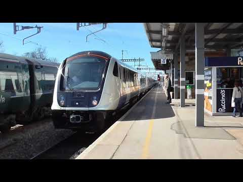 (HD) Crossrail Class 345 Aventra EMUs on the Great Western Main Line