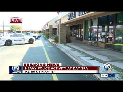 Heavy police presence outside spa in Jupiter