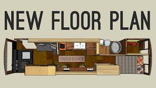 New Skoolie Floor Plan!