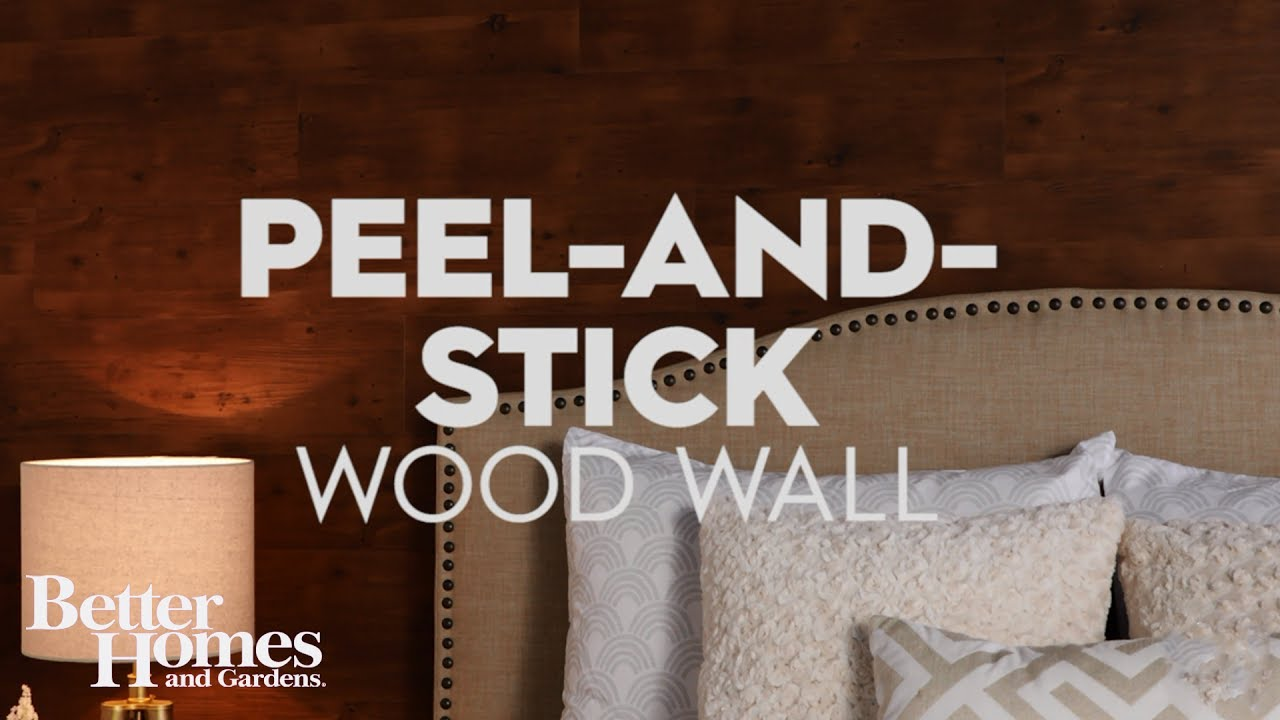 How to Make an Accent Wall with PeelandStick Flooring