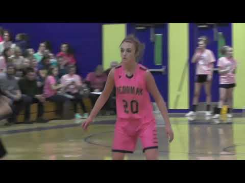 Medomak Valley vs. Lincoln Academy Pink Out Girls Basketball Highlights