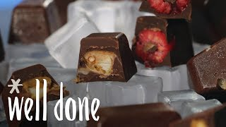 How to Make Ice Cube Tray Chocolates | Recipe | Well Done