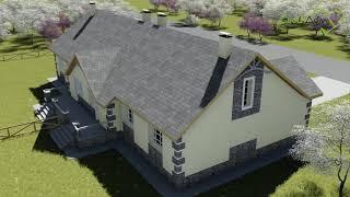Дублет E-034. Проект одноэтажного дома на две семьи