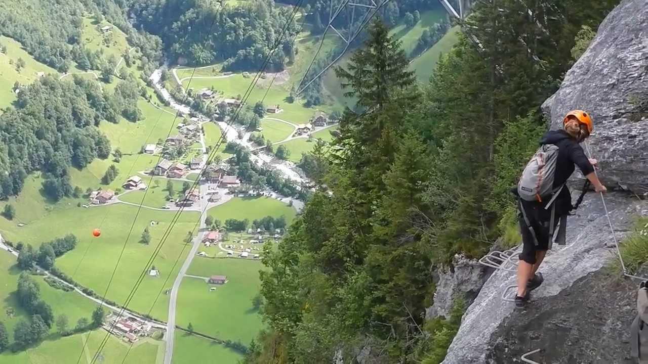 Klettersteig Mürren : Mürren to gimmelwald via ferrata klettersteig youtube