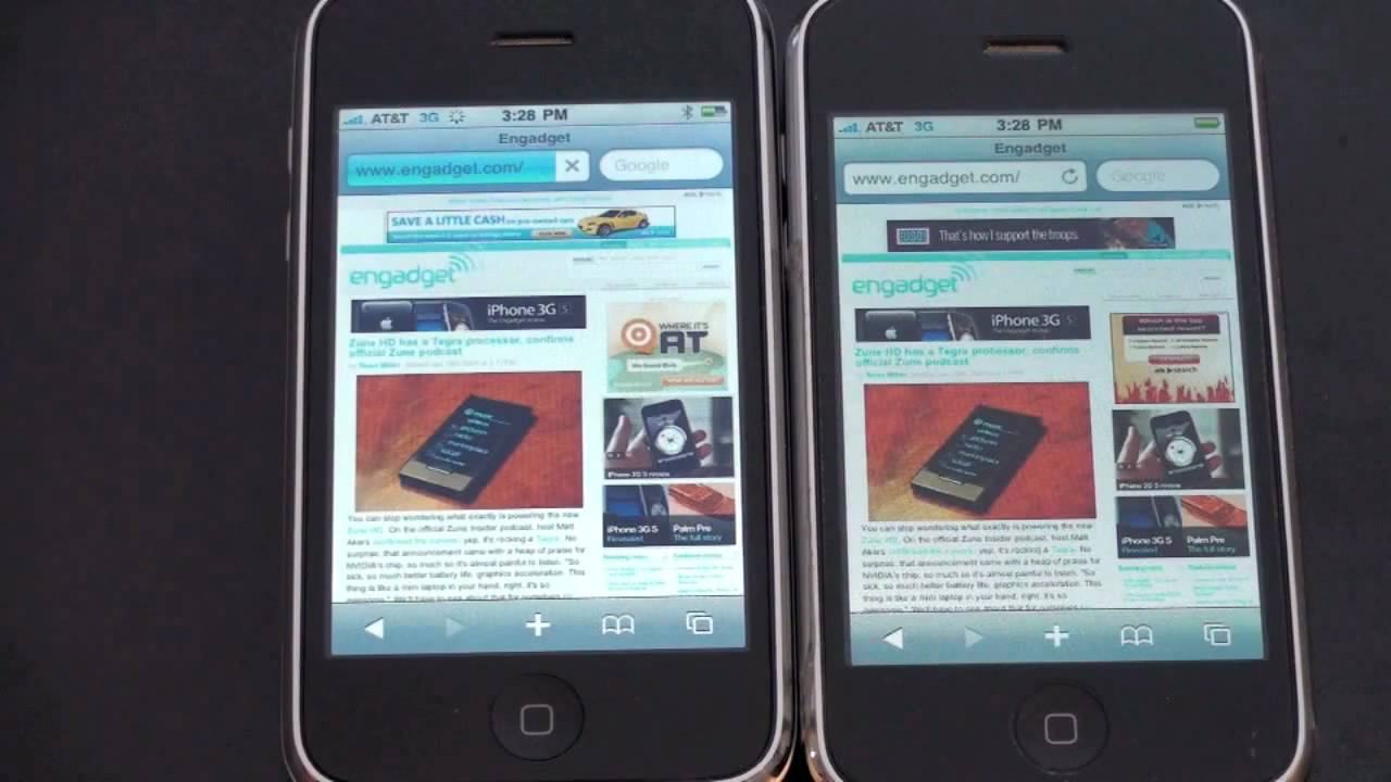 Iphone 3gs Vs Iphone 3g Youtube