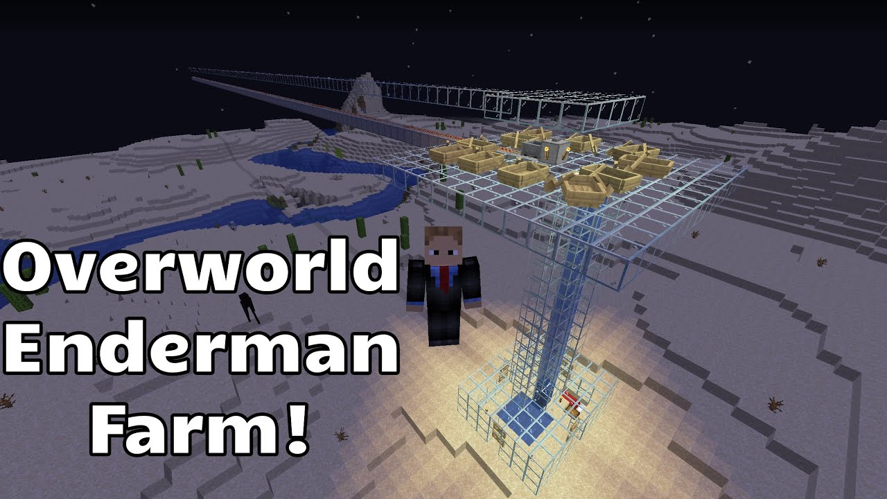 Finding Enderman In The Overworld Overworld Enderman Farm Youtube