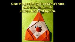 Craft Ideas For Christmas - Origami Santa Christmas Tree Ornament