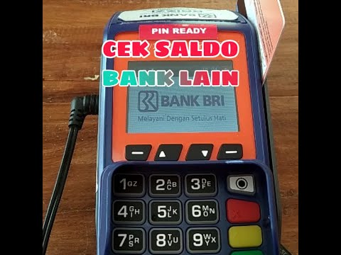 Cara Cepat Cek Saldo Bank Lain Di EDC BRILink ingenico move/2500