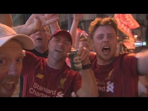 Así celebraron a Champions os seareiros do Liverpool en Madrid