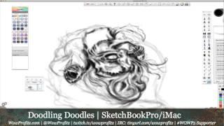 Doodling Doodles - Freelance Drawing in SketchBook Pro - iMac