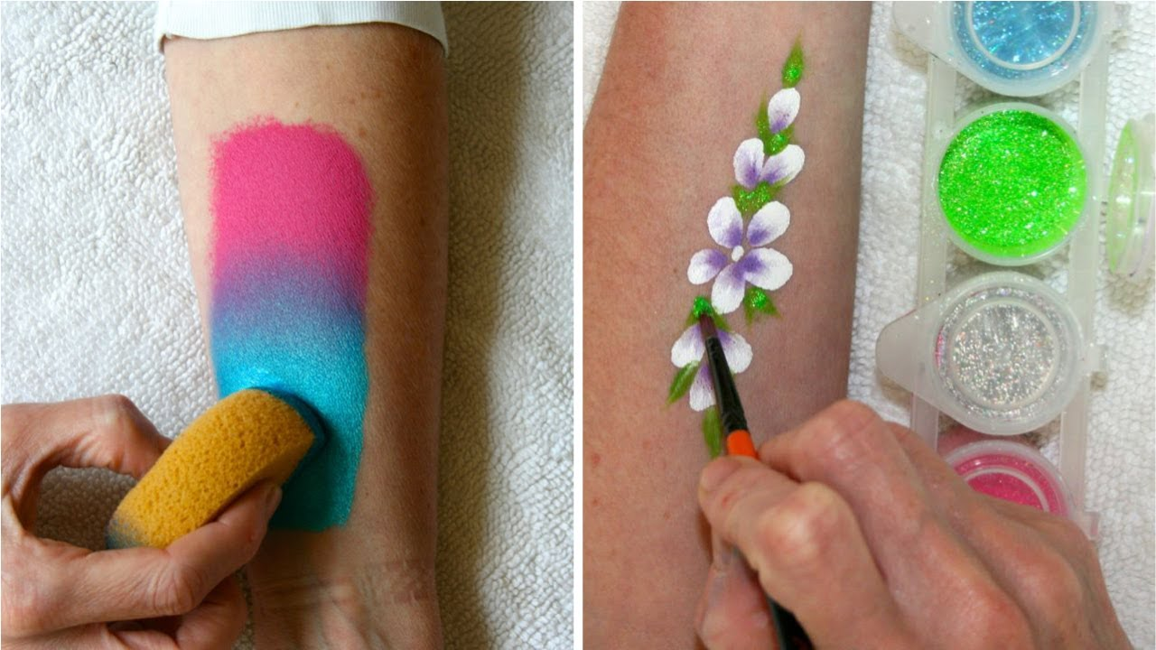 Learn How To Use Face Paints Sponges Amp Glitter Face