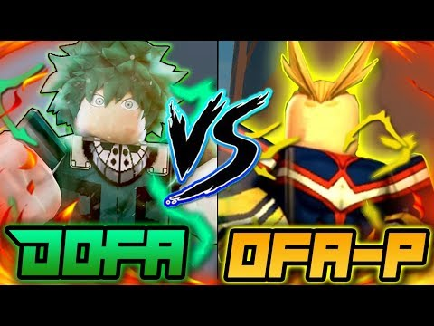 ONE FOR ALL PRIME VS DOFA? WHICH QUIRK IS BETTER?  HEROES ONLINE  ROBLOX