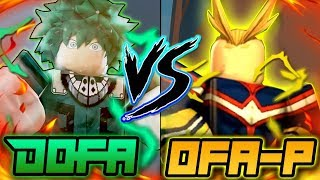 Baixar ONE FOR ALL PRIME VS DOFA!? WHICH QUIRK IS BETTER? | HEROES ONLINE | ROBLOX