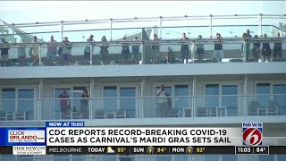 CDC reports record-breaking COVID-19 cases as Carnival's Mardi Gras sets sail