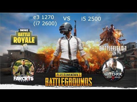 E3 1270 (i7 2600) Vs I5 2500 Gtx 1060 3gb In 5 Games 720p Ultra Settings