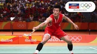Perlawanan Penuh : Malaysia lwn China | Akhir Badminton Perseorangan Lelaki | Olimpik Rio 2016