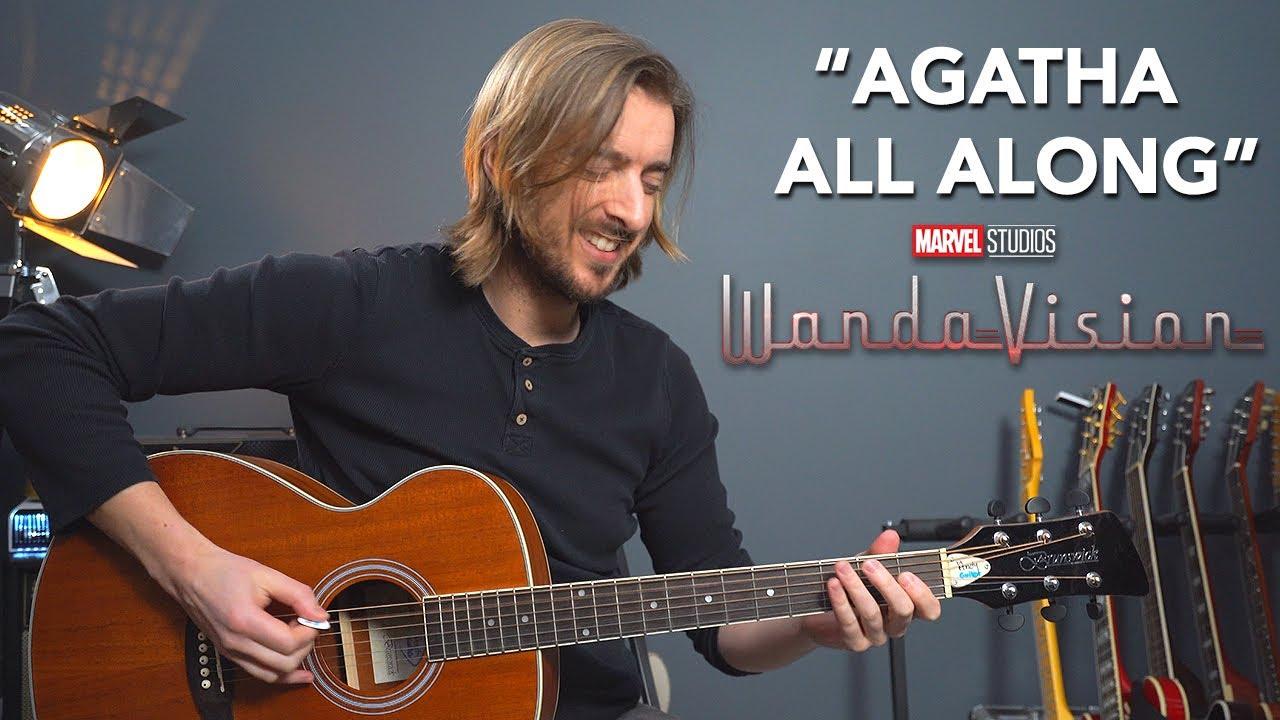 "Wandavision ""Agatha All Along"" theme song guitar cover + lesson"