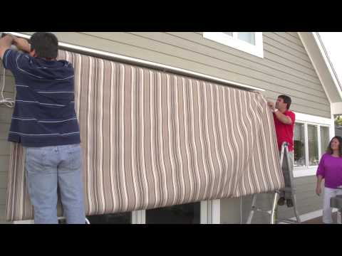 Replacing a Retractable Awning's Fabric - Removal & Installation