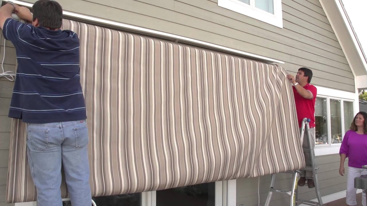 Replacing A Retractable Awnings Fabric Removal Installation