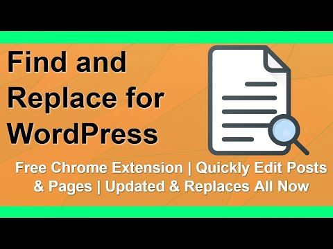 Free WordPress Find and Replace Chrome Extension thumbnail