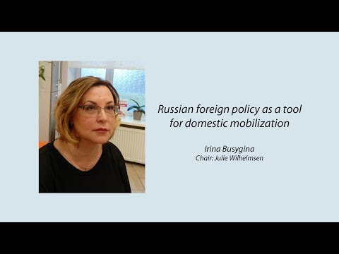 Russian foreign policy as a tool for domestic mobilization
