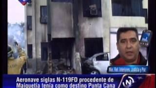 Ministro De Interior Y Justicia Ofrece Nuevos Detalles De Avioneta Estrellada En Parque Valencia