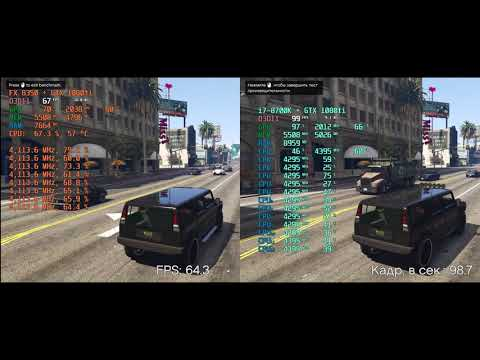 AMD FX8350 vs i7-8700K with GTX 1080ti. Tests in 10 games FullHD 1920x1080