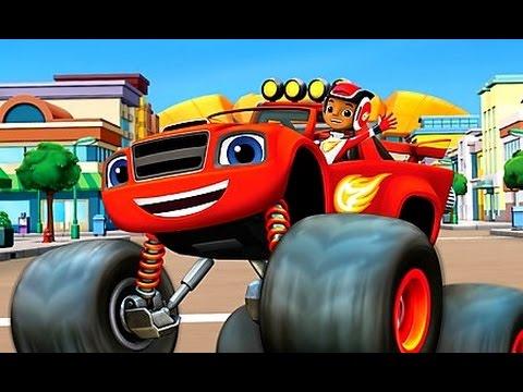 Blaze вспыш и чудо машинки все серии подряд игр мультфильма вспыш машинки раскраска Blaze Childrentv