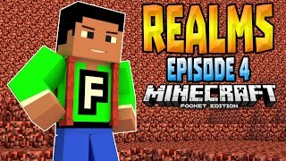 MCPE 0.15.1 REALMS SMP Ep. 4 - Entering The Nether!  - Minecraft PE (Pocket Edition)