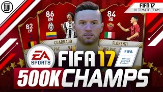 FIFA 17 BEST 500K CHAMPS SQUAD!?!? #YOURTEAM - FIFA 17 Ultimate Team