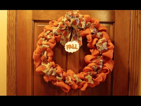 Diy Burlap Wreath Tips Amp Fall Wreath Tutorial Youtube