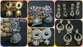 Latest Trendy oxidised earrings collections in sowcarpet in tamil | wholesale shop collections