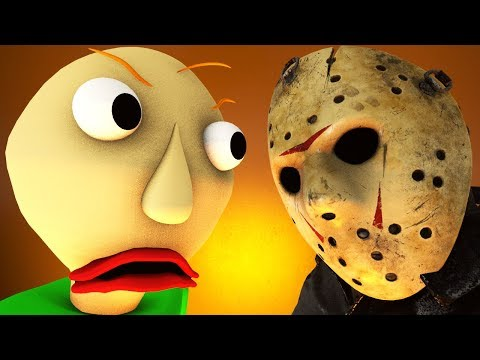 BALDI Vs JASON Voorhees (Friday 13 Horror Game 3D Animation)