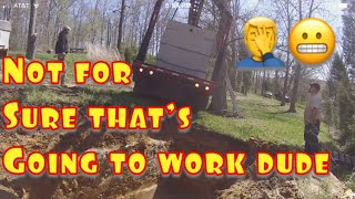 Installing cistern, pulling a well and crazy truck driver #funday thumbnail