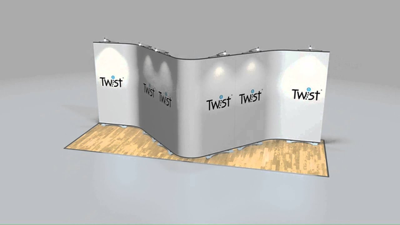 Insta Portable Exhibition Kit : Twist modular banner system flexi link exhibition kit display