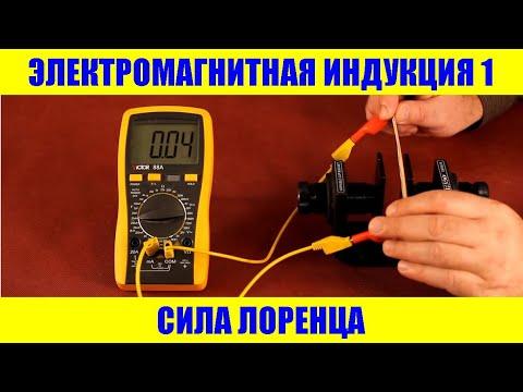 Электромагнитная индукция 1:  Сила Лоренца