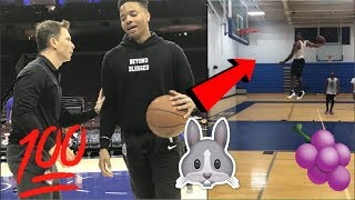 MARKELLE FULTZ SHOWS OFF HIS NEW HANDLES & DUNKS IN OFFSEASON WORKOUT 🍇🔥
