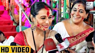 Rani Mukerji Speaking In Bengali During Durga Puja | LehrenTV
