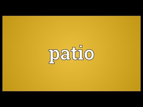 Patio Meaning