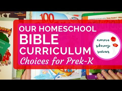 What Resources I Use To Teach Bible in Our Homeschool || Preschool - Kindergarten 📚