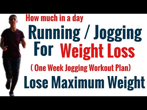 Running or Jogging for Weight loss | How much in a day | Technique, Posture, Calorie Burn, Routine