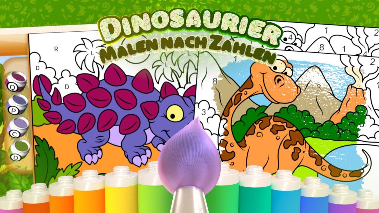 malen nach zahlen dinosaurier  android  youtube