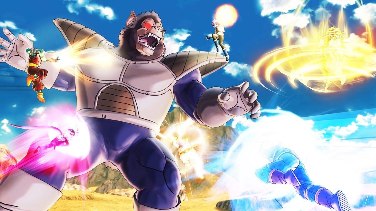 Trận Chiến Với Khỉ Khổng Lồ Oozaru Và Trạng Thái Super Saiyan 4 Huyền Thoại - Dragon Ball XV2 Tập 43